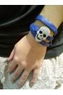 PULSERA SKULL STRASS BLUE