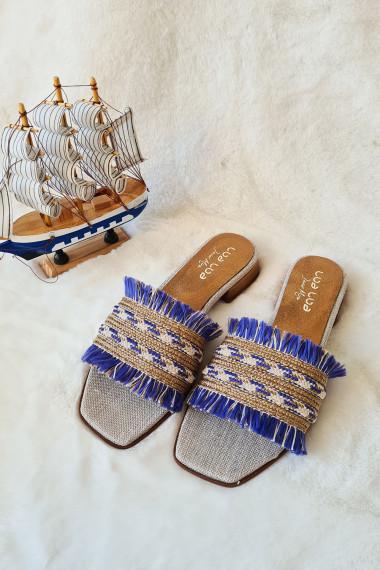 SANDALIA BLUE & GOLD